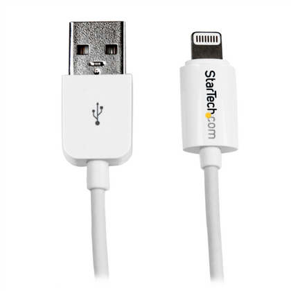 Cable Lightning - USB (M- M), Color Blanco, Longitud 1.0 Metros, STARTECH USBLT1MW