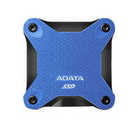 SSD Externo Durable SD600Q, Capacidad 240GB, Interfaz USB 3.1, Color Azul, Resistente a Golpes, ADATA ASD600Q-240GU31-CBL