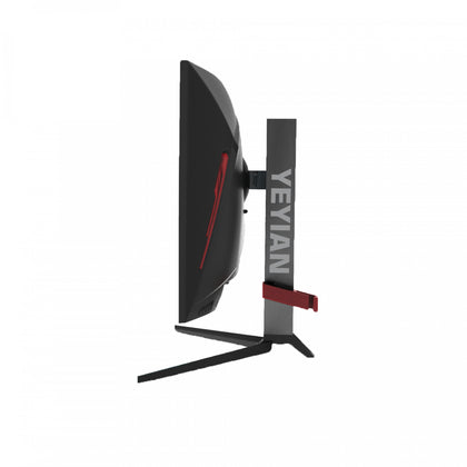 "Monitor Gamer Curvo LED 27"" YEYIAN SIGURD 3001, Resolución Full HD (1920 x 1080), 165Hz, 1ms, 1x DP, 1x HDMI 1x DVI, Color Negro, QIAN YMC-70102"