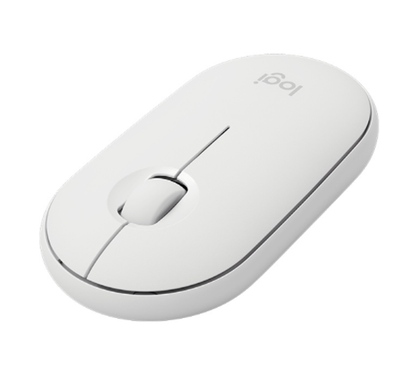 Ratón (Mouse) Óptico Inalámbrico Pebble M350, Bluetooth, USB, Color Blanco, LOGITECH 910-005770