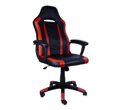 Silla Gamer Chaser, Reposa Brazos, Soporte Cervical y Lumbar, Color Rojo, Max. 110 Kg, CHASER CH-FIRERED
