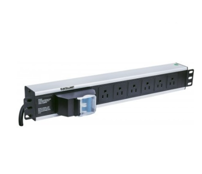 Barra Multicontactos (PDU) para Rack 1.5U, 15A, 125V, 6 Contactos, INTELLINET 713948