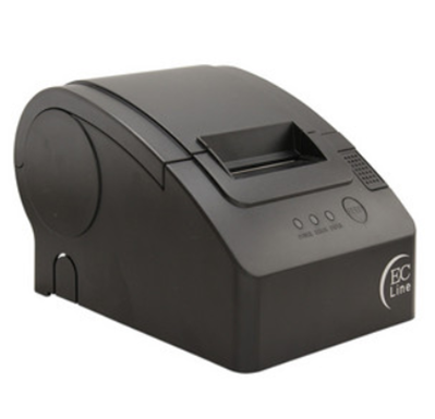 Impresora de Tickets (Mini Printer), Ancho 58 mm, TTipo de Impresión Térmica, Alámbrica, USB, Color Negro, Cortador Manual, EC LINE EC-PM-58110-USB