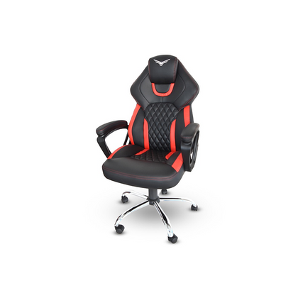 Silla Gamer Modelo Tank, Semi Reclinable, Color Rojo / Negro, Max. 140 Kg, NACEB NA-0913