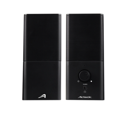 Bocinas Sub 2.0, USB -Auxiliar 3.5mm, 2x3W, Color Negro, ACTECK AC-922043