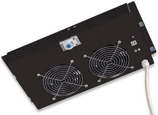 Ventilador P/ Gabinete, 2 Extractores, Termostato Digital, INTELLINET 711180