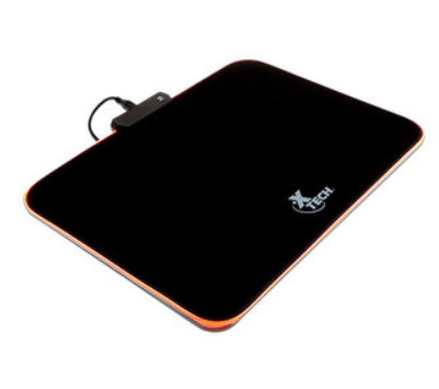MousePad Gamer, LED RGB, 36cm x 27cm, Grosor 3mm, Color Negro, XTECH XTA-200