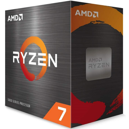 Procesador (CPU) Ryzen 7 5800X, 3.8 GHz (hasta 4.7 GHz), Socket AM4, Quad-Core, 105W, AMD 100-100000063WOF