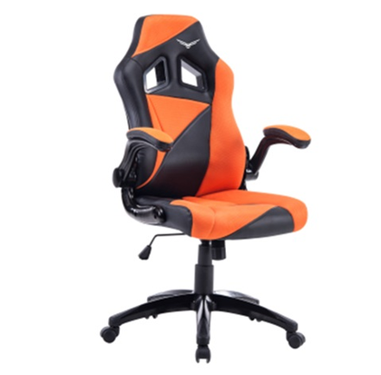 Silla Gamer Modelo Air Striker, Semi Reclinable, Color Naranja / Negro, Max. 120 Kg, NACEB NA-0903