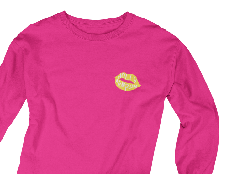 Holly Monroe Lips Left Chest LS T Shirt