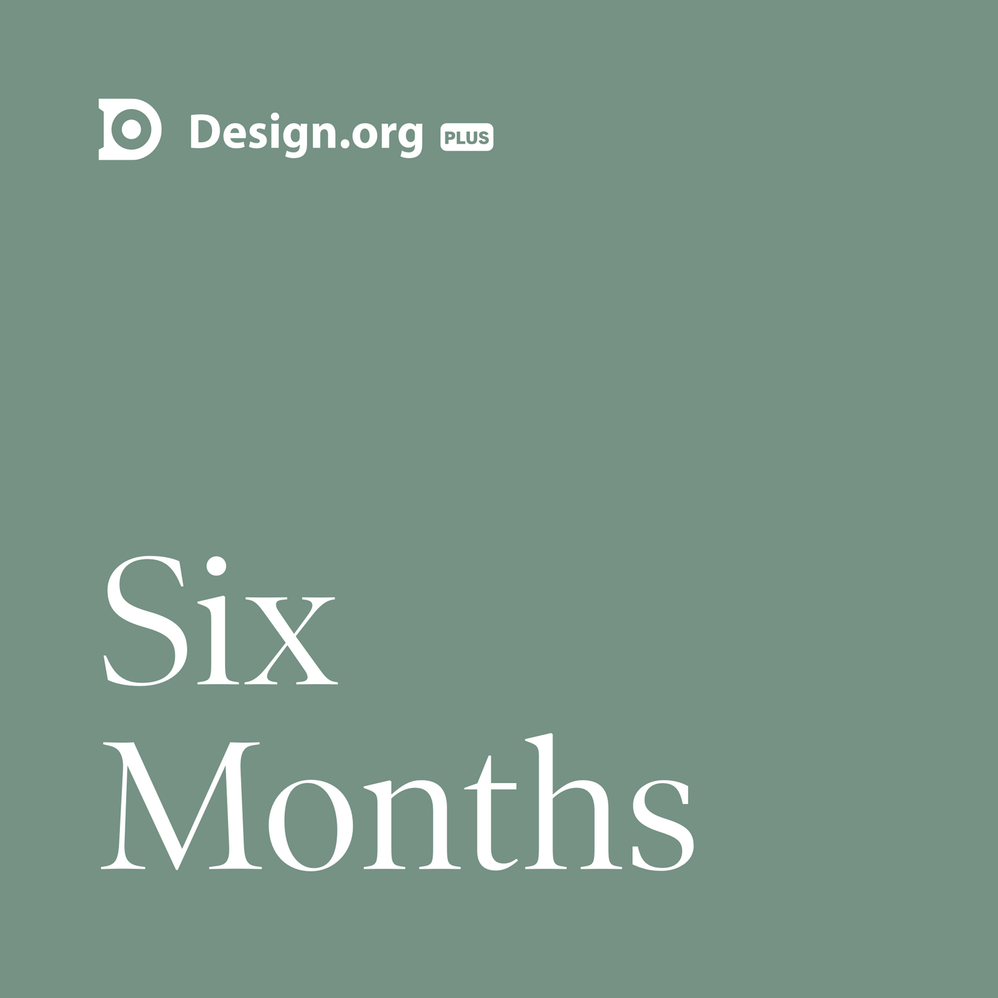 Design.org Plus 6-month Subscription