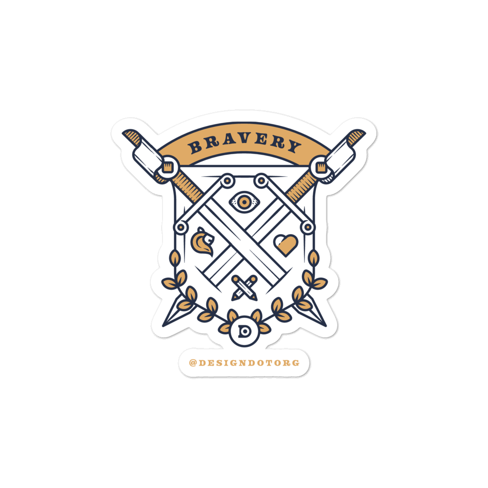 Bravery Shield Sticker