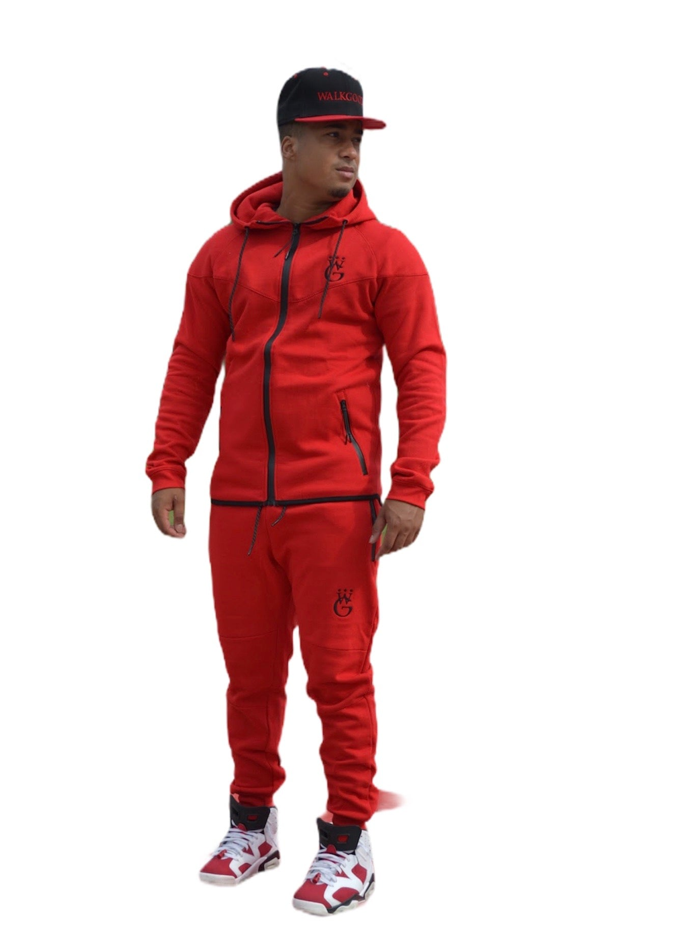 CLUB FLEECE JUMP SUIT (RED)