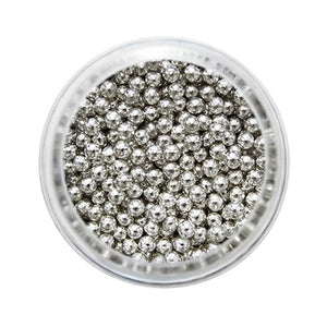 Silver Sugar Pearls 25g