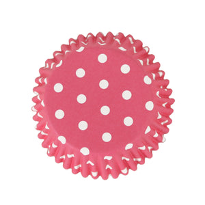 Pink Polka Dot Cupcake/Muffin Cases