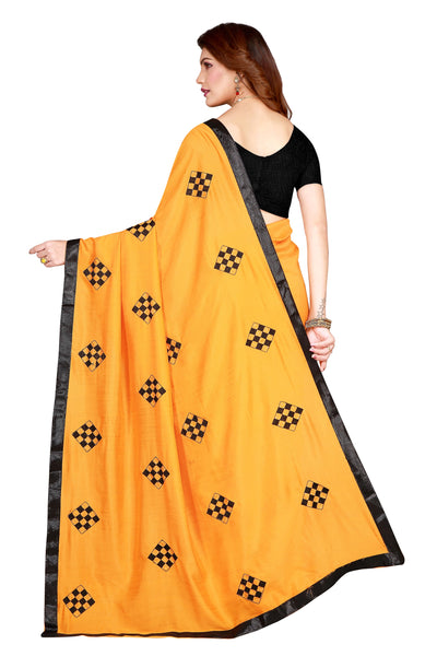 RESTRO CLOTH  GEORGTTE SAREE WITH BLOUSE PIECE