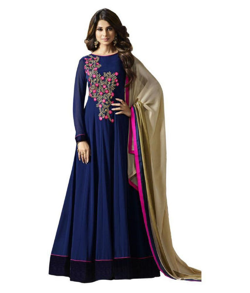 Women Georgette Anarkali Long Salwar Suit With Dupatta