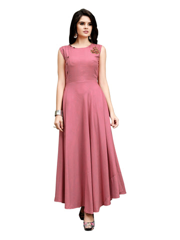 Women Full Stiched REYON NAMO  Fabric Gown
