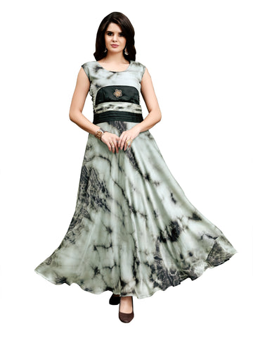 Women Full Stiched RANGOLI  Fabric Gown