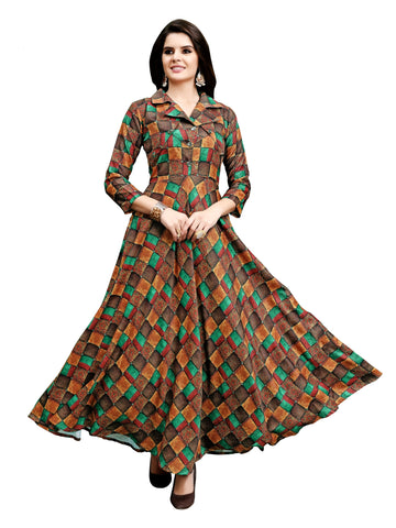 Women Full Stiched JAAM COTTON  Fabric Gown