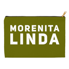 Load image into Gallery viewer, Olive Green Morenita Linda Accessory Pouches - Xóchitl Gift Shop