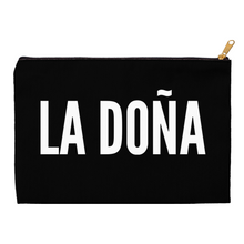 Load image into Gallery viewer, Black La Doña Accessory Pouches - Xóchitl Gift Shop