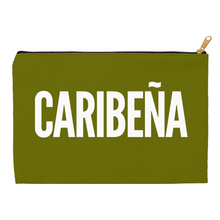 Load image into Gallery viewer, Olive Green Caribeña Accessory Pouches - Xóchitl Gift Shop