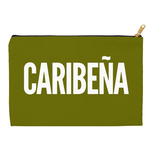 Olive Green Caribeña Accessory Pouches - Xóchitl Gift Shop