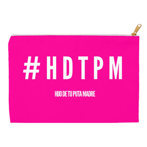 Hot Pink #HDTPM Accessory Pouches - Xóchitl Gift Shop