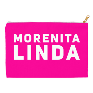 Hot Pink Morenita Linda Accessory Pouches - Xóchitl Gift Shop