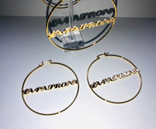 Load image into Gallery viewer, La Patrona Gold Hoops