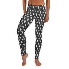 Load image into Gallery viewer, Black and White Cactus Leggings - Xóchitl Gift Shop