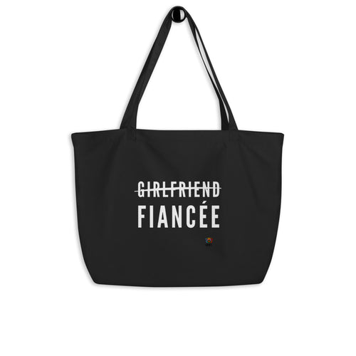 Girlfriend fiancee Large organic tote bag - Xóchitl Gift Shop