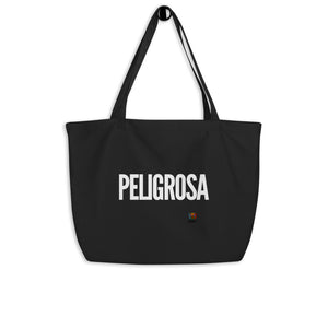 Peligrosa Large organic tote bag - Xóchitl Gift Shop