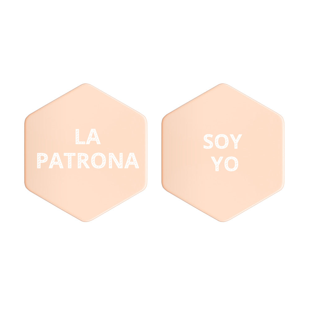 LA PATRONA SOY YO Sterling Silver Hexagon Stud Earrings - Xóchitl Gift Shop