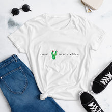 Load image into Gallery viewer, Con El Nopal En El Corazón Women's short sleeve t-shirt