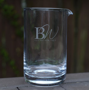BW Engraved Cocktail Mixing Glass
