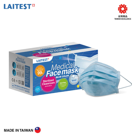 [READY STOCK] Laitest Medical Face Mask 50's - Blue