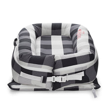 Load image into Gallery viewer, DockATot Deluxe+ Baby Nest - Charcoal Buffalo