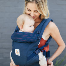 Load image into Gallery viewer, Ergobaby Adapt Baby Carrier: Navy Mini Dots