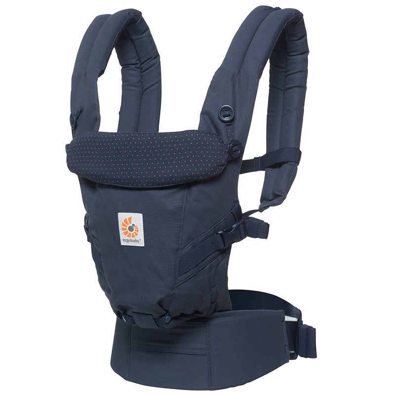 Ergobaby Adapt Baby Carrier: Navy Mini Dots