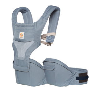 Ergobaby Hip Seat Baby Carrier: Cool Air Mesh - Oxford Blue
