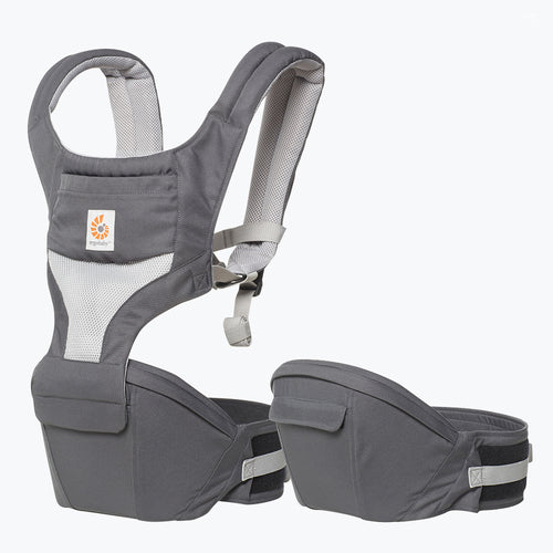 Ergobaby Hip Seat Baby Carrier: Cool Air Mesh - Carbon Grey