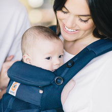 Load image into Gallery viewer, Ergobaby Omni 360 Baby Carrier: Cool Air Mesh - Midnight Blue