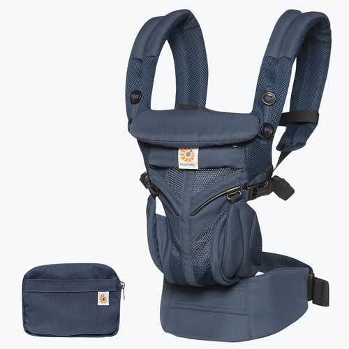 Ergobaby Omni 360 Baby Carrier: Cool Air Mesh - Midnight Blue