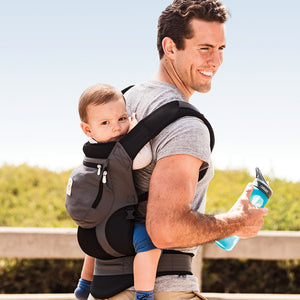 Ergobaby Original Baby Carrier: Bundle of Joy with Easy Snug Infant Insert - Charcoal