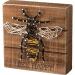 Wood Art - Bee Happy