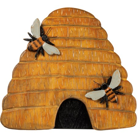 Wood Beehive Wall Decor