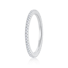 Load image into Gallery viewer, 925 Sterling Silver Fully eternity single row Ring Miss Mimi 02-142494