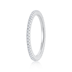 925 Sterling Silver Fully eternity single row Ring Miss Mimi 02-142494